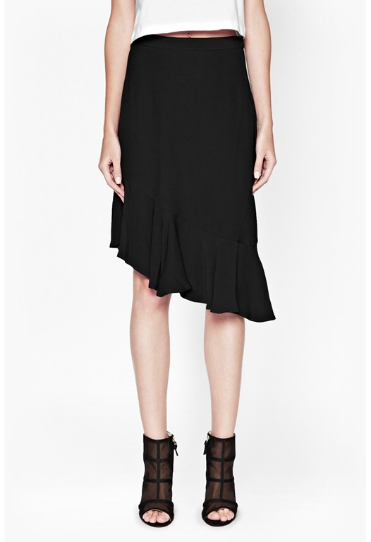 Downtown Crepe Asymmetric Skirt
