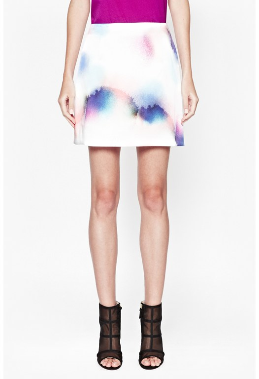 Soft Spray Flared Skirt