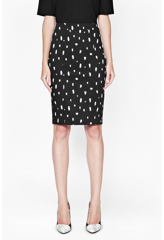 Polka Spray Pencil Skirt