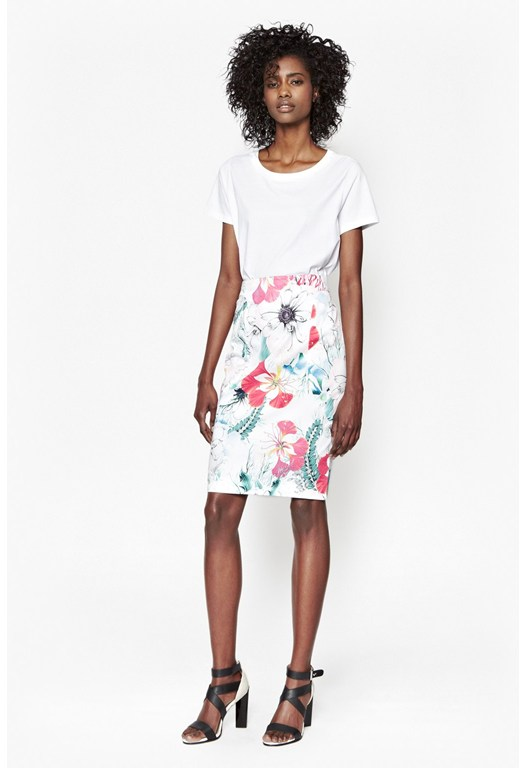 Floral Reef Pencil Skirt