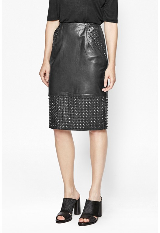 CHAOS LEATHER PENCIL SKIRT