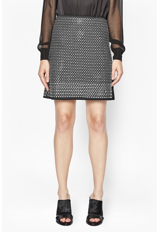 Diamond Rock Embellished Skirt