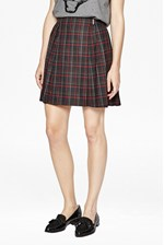 Looks Great With Soho Check Pleated Skirt