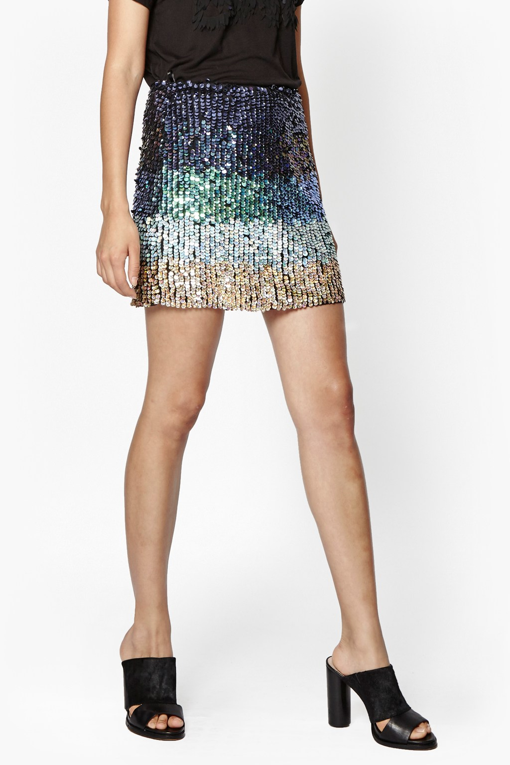 Cosmic Beam Sequin Skirt