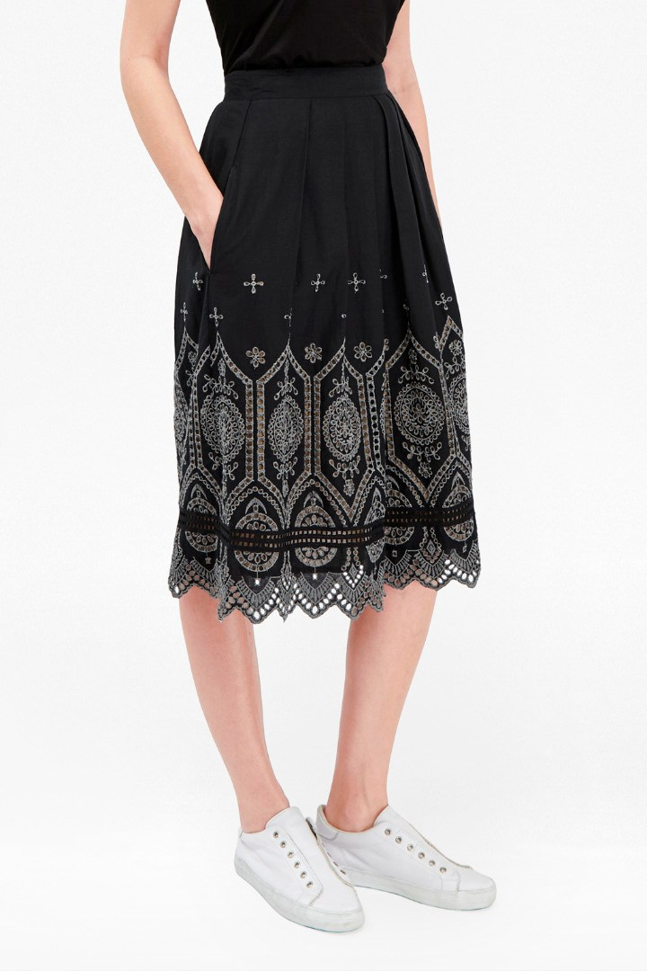 Josephine Cotton Flared Skirt