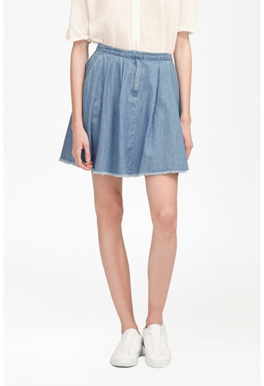 Laurie Denim Skater Skirt