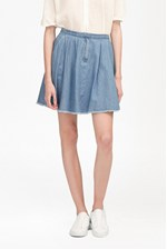 Looks Great With Laurie Denim Skater Skirt