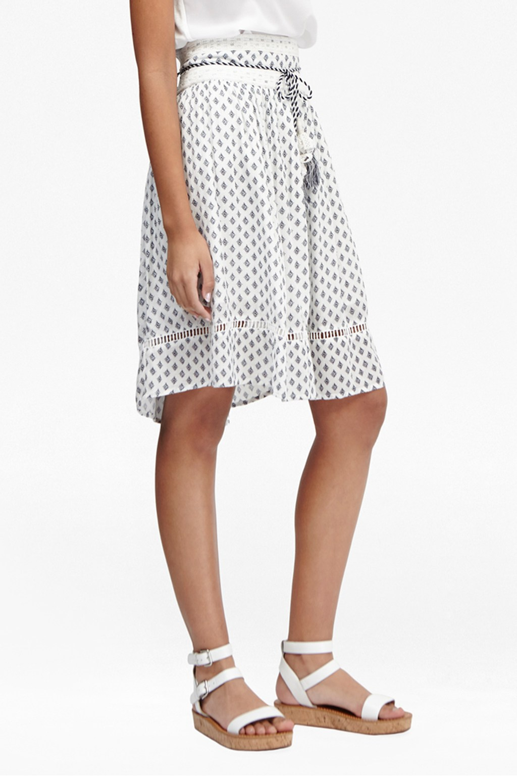 Ava Tile Printed Skirt