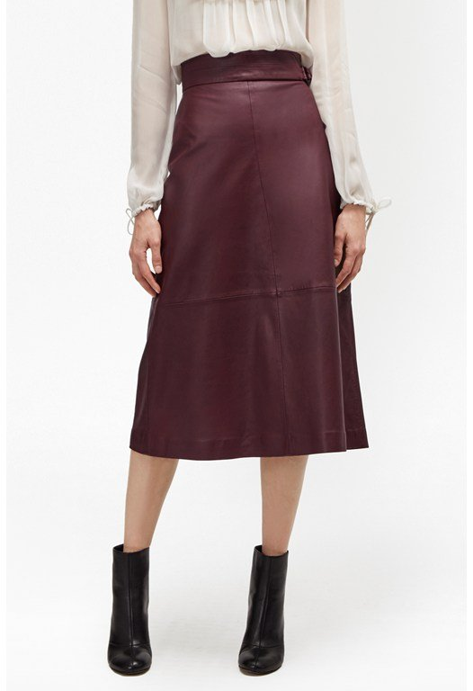 Annie Leather Midi Skirt