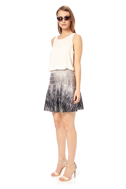 Fast Spotlight Flame Flared Skirt