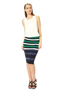 FAST RILEY STRIPE FITTED SKIRT