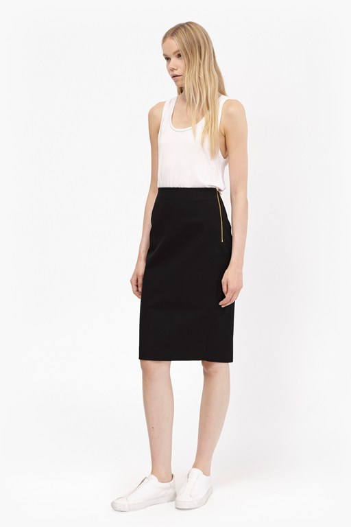 street twill pencil short skirt