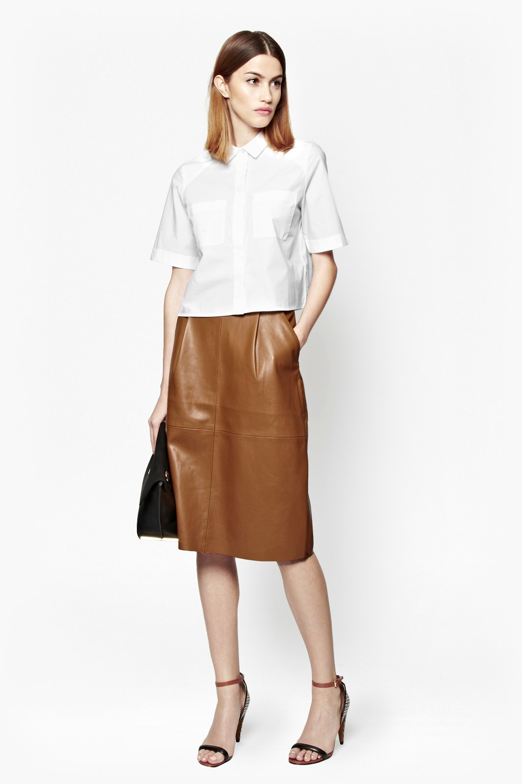Patrice Faux Leather Skirt | Collections | French Connection Usa