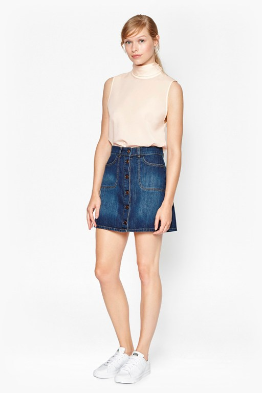 Complete the Look Mia Denim Mini Skirt