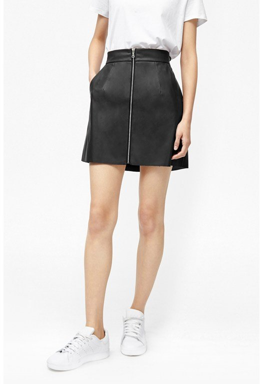 Atlantic Faux Leather Mini Skirt