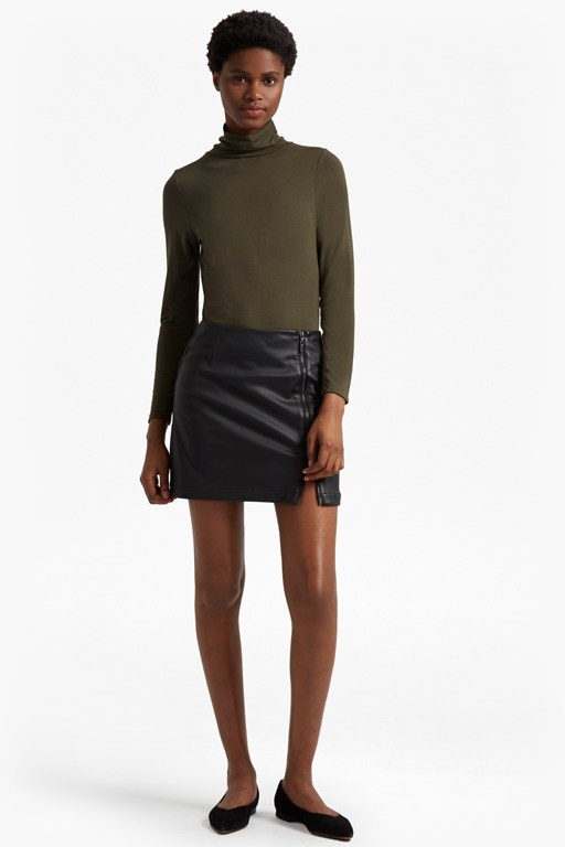 Complete the Look Filomena Faux Leather Mini Skirt