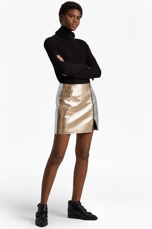Complete the Look Audrey Faux Leather Mini Skirt