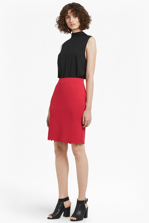 lela crepe knit pencil skirt