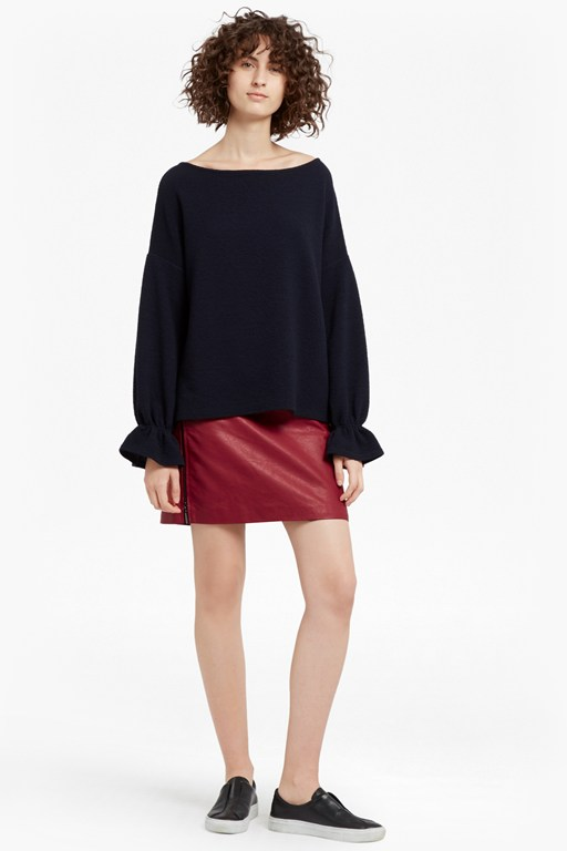Complete the Look Canterbury Zipped Faux Leather Skirt