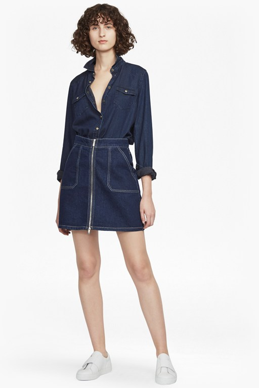 Complete the Look Cargo Twill A Line Mini Skirt