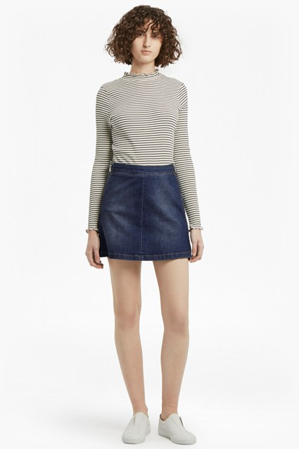 Canterbury Zipped Denim Skirt