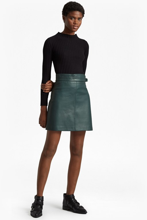 Complete the Look Goldenburg Leather Mini Skirt