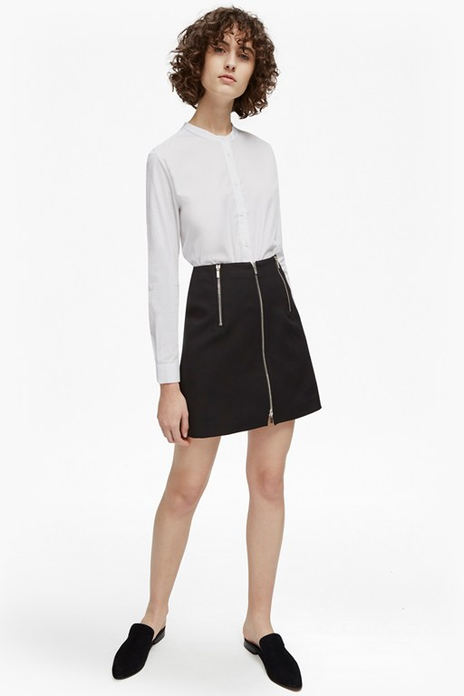 Complete the Look Glass Stretch Zippy Mini Skirt