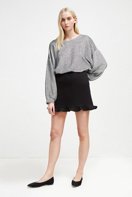 Sundae Suiting Frill Mini Skirt