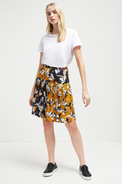 aventine drape pleated skirt