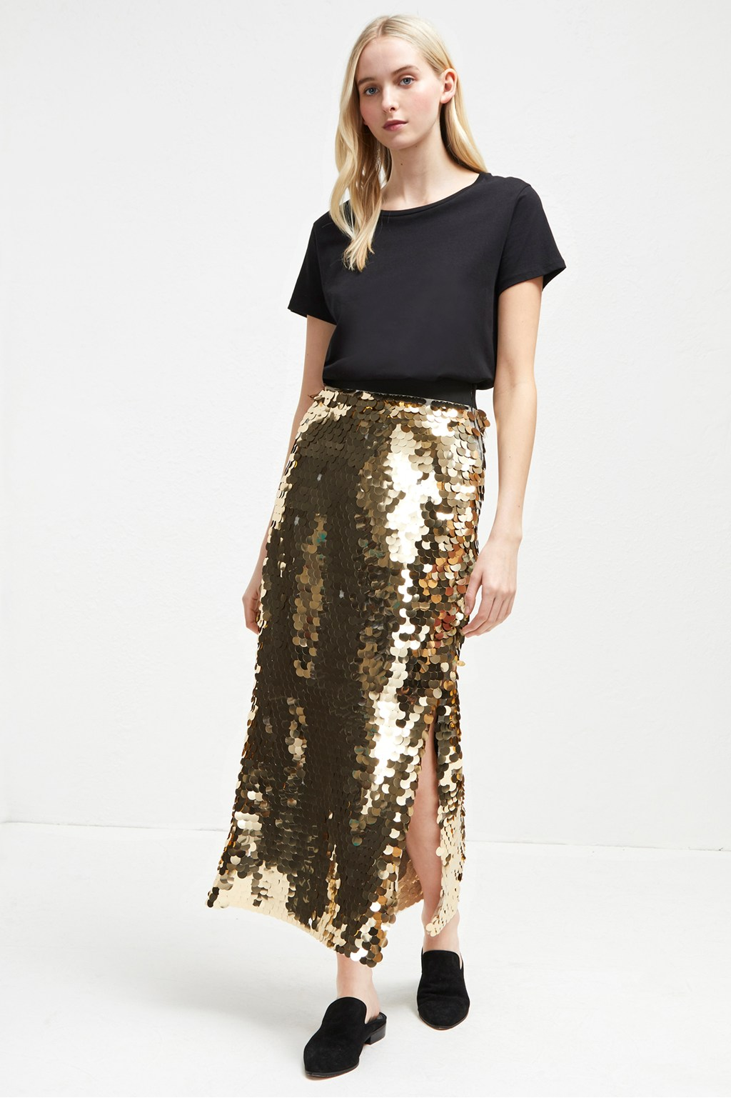 Emilia Sequin Jersey Midi Skirt   Collections   French Connection Usa 50bca1a657