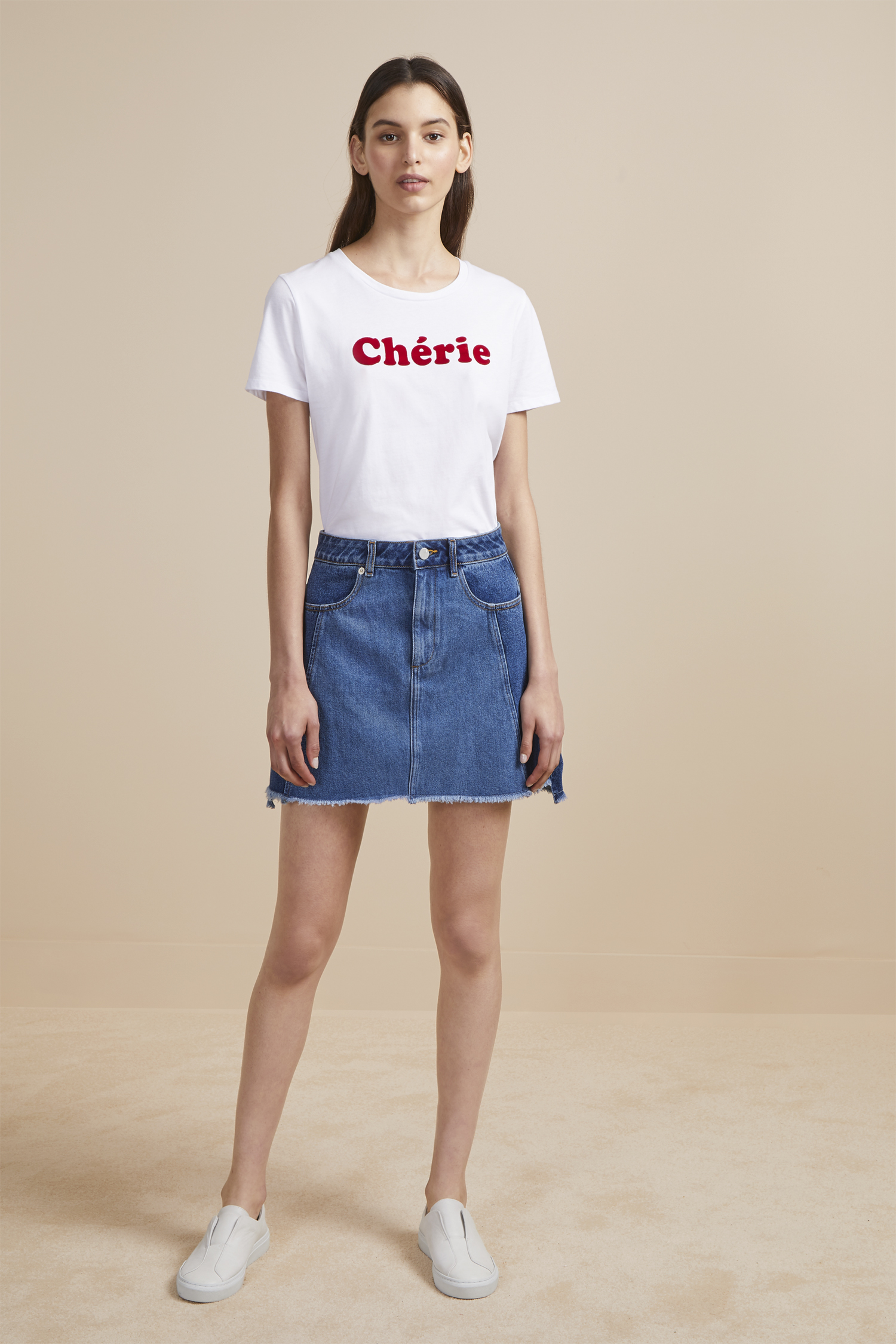losa-denim-mini-skirt by french-connection