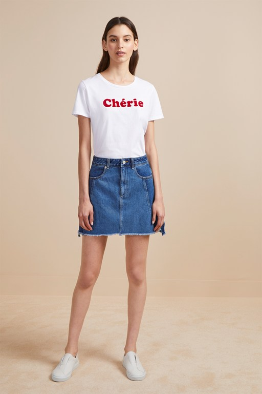 losa denim mini skirt