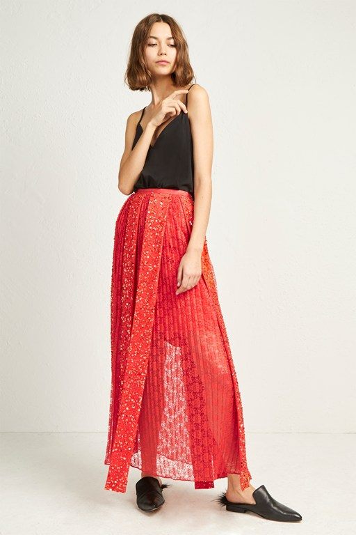 diana sequin maxi skirt