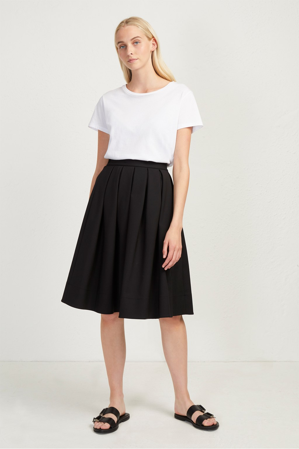 dbe70b871e Glass Stretch Pleated Midi Skirt | Sale | French Connection Usa