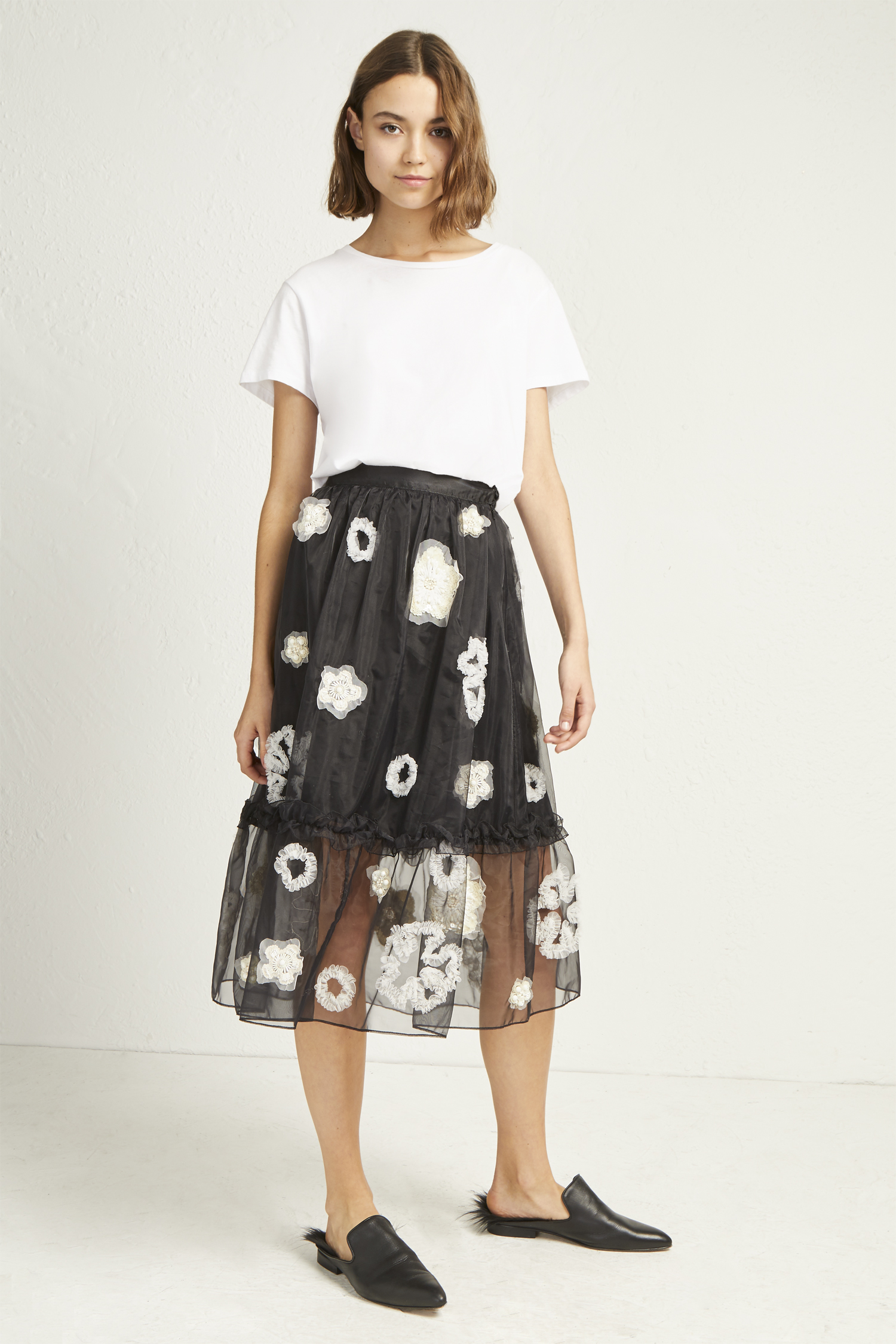 Josephine Embellished Full Skirt by French Connection
