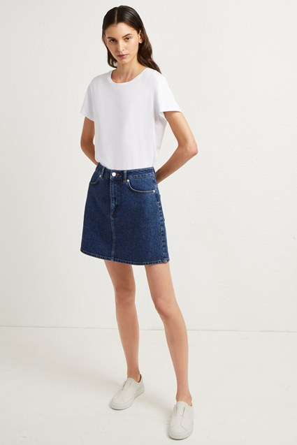 Mena Denim Mini Skirt