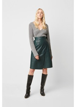 Abri Leather Wrap Skirt