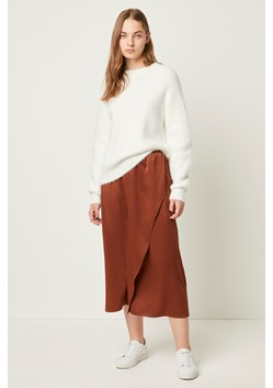 Alessia Satin Midi Skirt