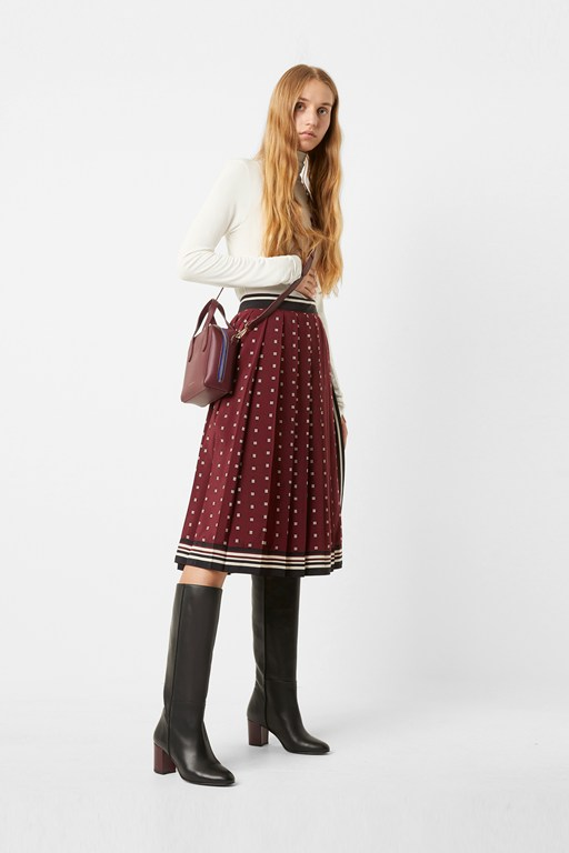 claudina pleated wrap skirt