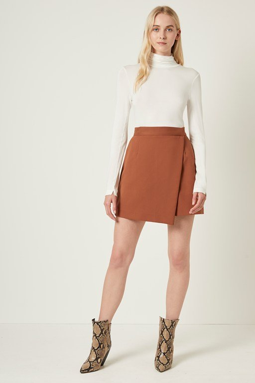 alido sundae suiting wrap skirt