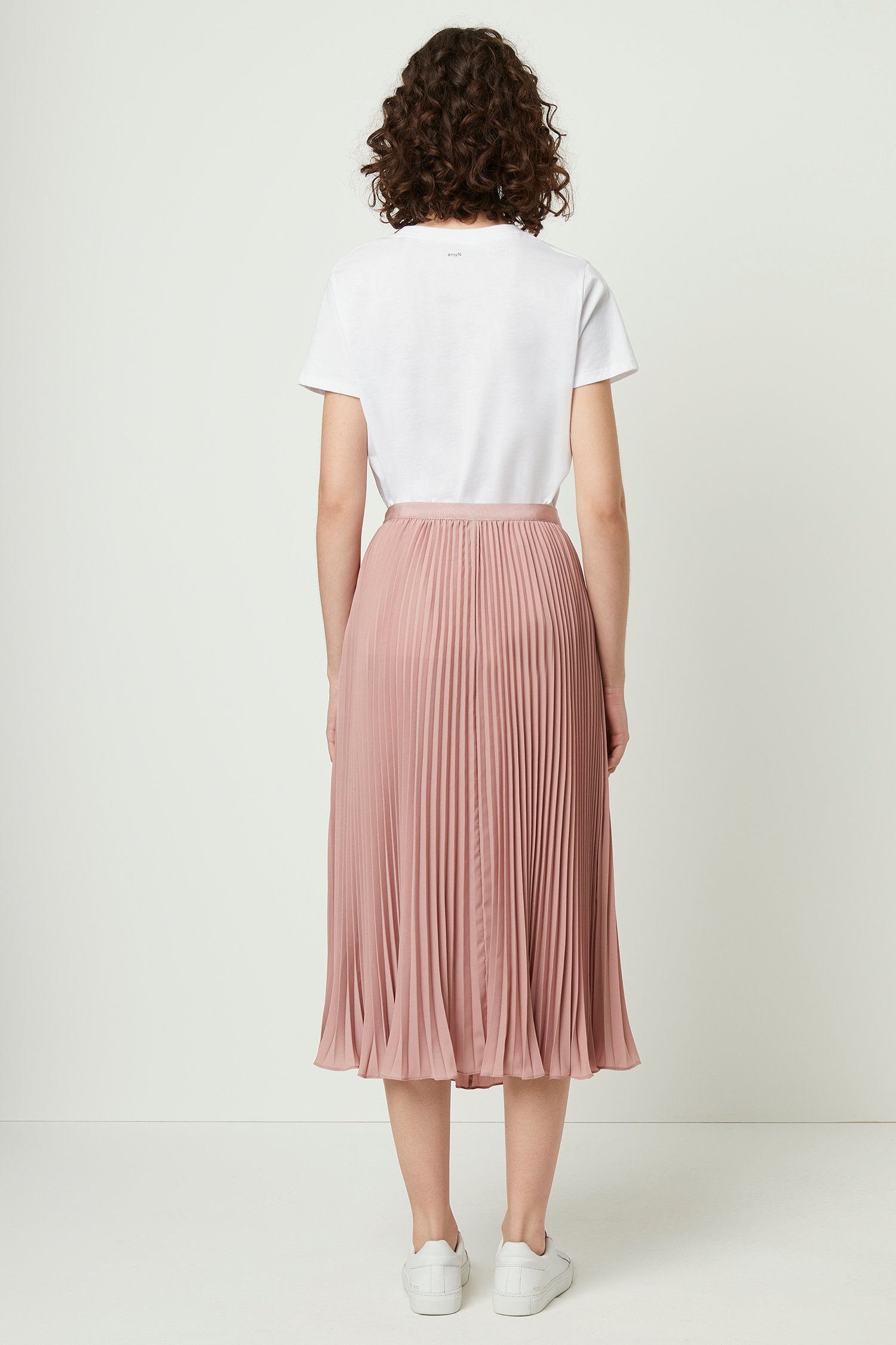 search for latest fashionablestyle order Crepe Light Pleated Midi Skirt