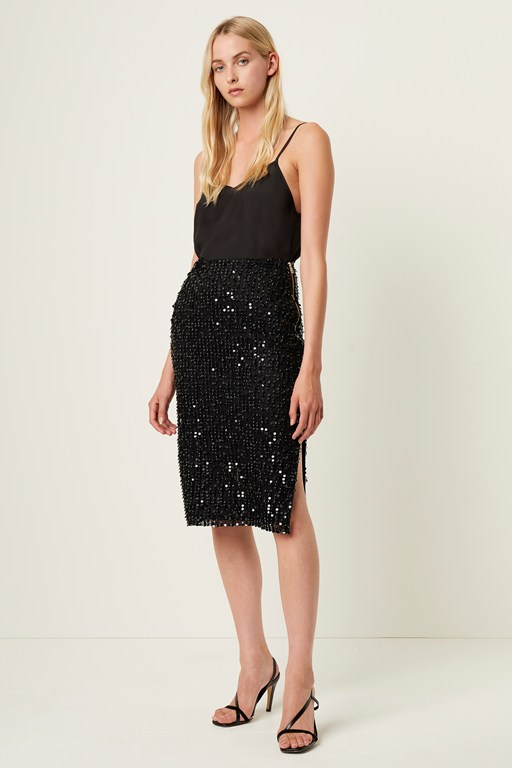 desiree sequin midi skirt