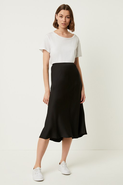 Complete the Look Alessia Satin Midi Skirt
