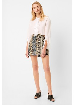 Adila PU Reptile Mini Skirt