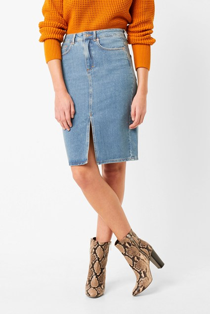 Reem Denim High Waisted Pencil Skirt