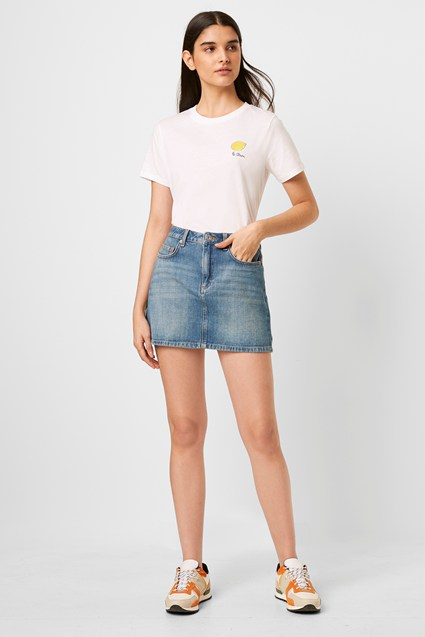 Reem Denim Mini Skirt