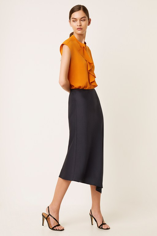 Complete the Look Maudie Drape Midi Skirt