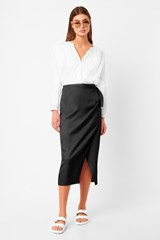 Gabina Drape Tie Side Skirt