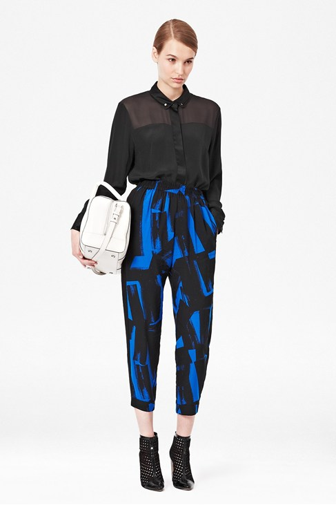 Big Brushstrokes Drapey Trousers