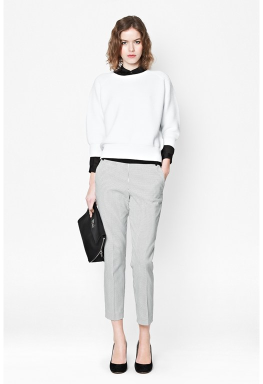 City Grid Cropped Trousers